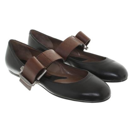 Marni Ballerinas in black / brown