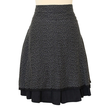 Stefanel mixed cotton and silk skirt