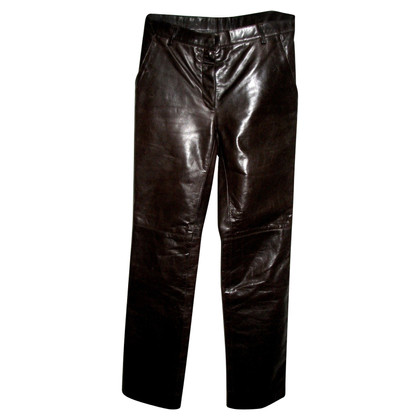 Marc Jacobs Brown leather trousers