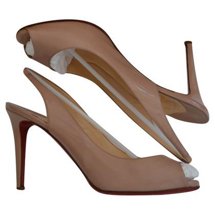 Christian Louboutin Slingback peep toes