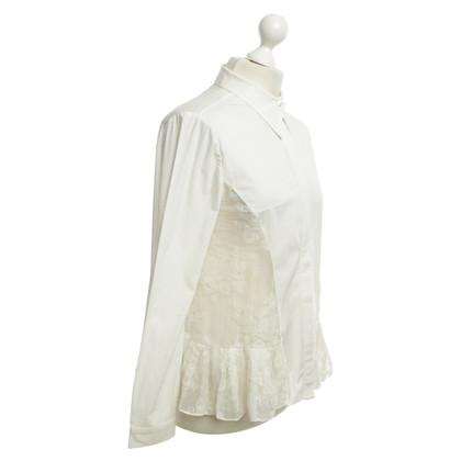 Erdem blouse en dentelle blanche