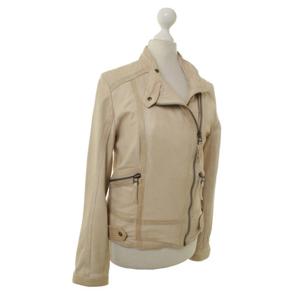 Closed Giacca in pelle beige