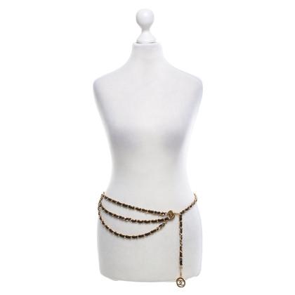 Chanel Catena Cintura in nero / oro