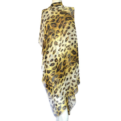 Burberry Prorsum Silk scarf with leopard print