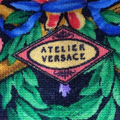 Gianni Versace Wollen doek met patroon