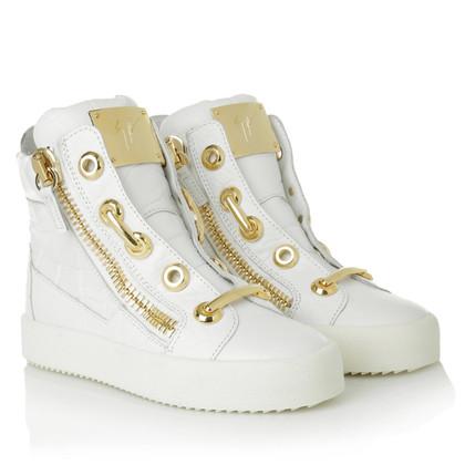 Giuseppe Zanotti High Top Sneakers in Weiß