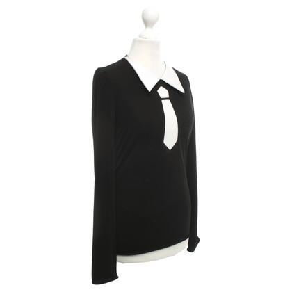 Giorgio Armani top in black and white