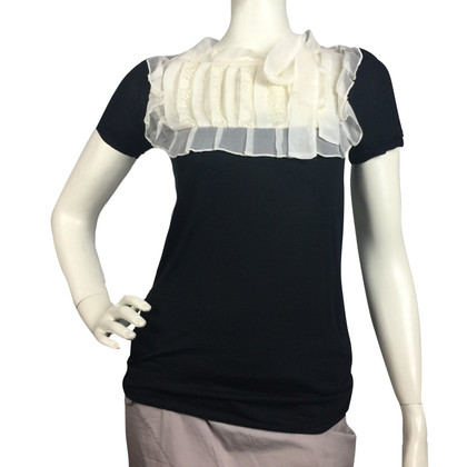 Red Valentino top in black and white