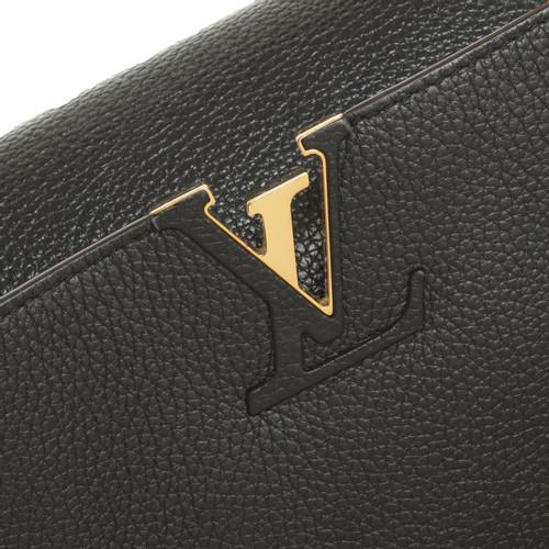 efba51410b5f4 Louis Vuitton Handbag Leather in Black - Second Hand Louis Vuitton ...