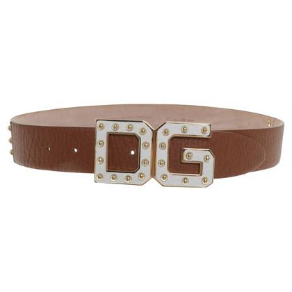 Dolce & Gabbana Gürtel in Braun/Weiß