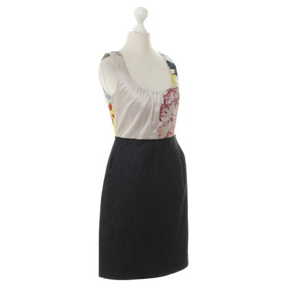 Elie Tahari Silk dress with denim skirt