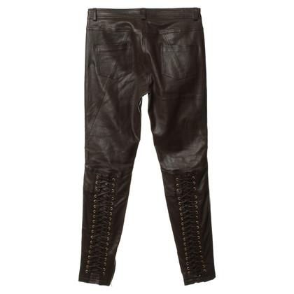 Altre marche Pantaloni con Python di pelle lacci e stringhe