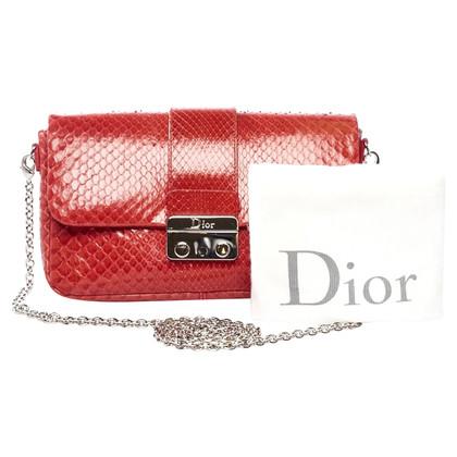 Christian Dior Schoudertas gemaakt van python huid