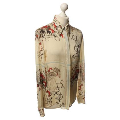 Hermès Seidenbluse mit Motiv-Print