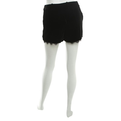 Diane von Furstenberg Velvet shorts with lace