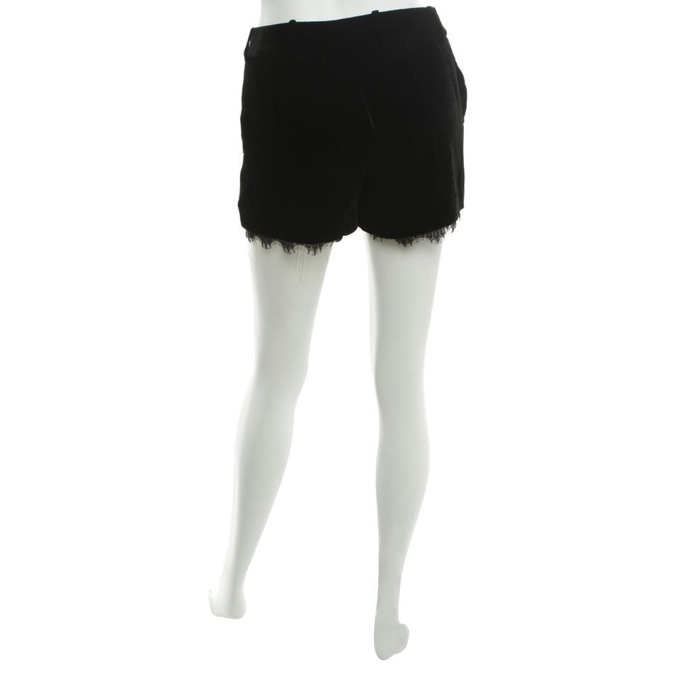 Diane von Furstenberg Samt-Shorts mit Spitze