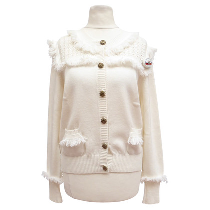 Chanel Cardigan with logos and fringes