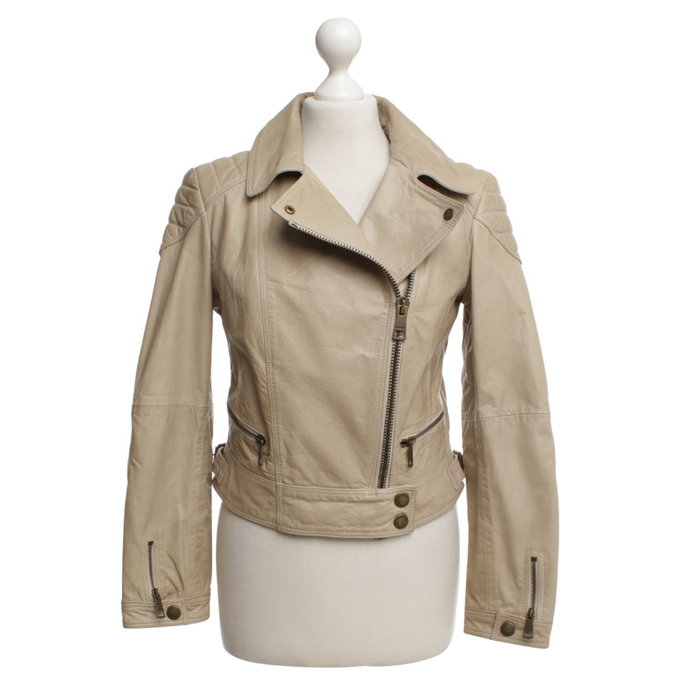 Burberry Calf leather jacket in beige