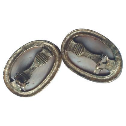 Givenchy Orecchini a clip con pietre della gemma