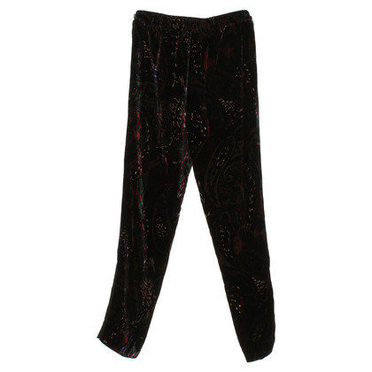 Sandro Velvet pants with pattern