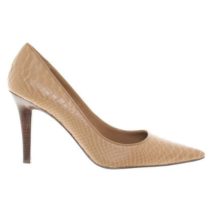 Ralph Lauren pumps met reptiel embossing