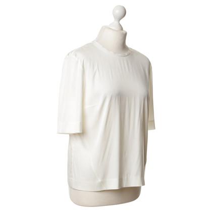 Cos Zijden blouse in crème kleuren