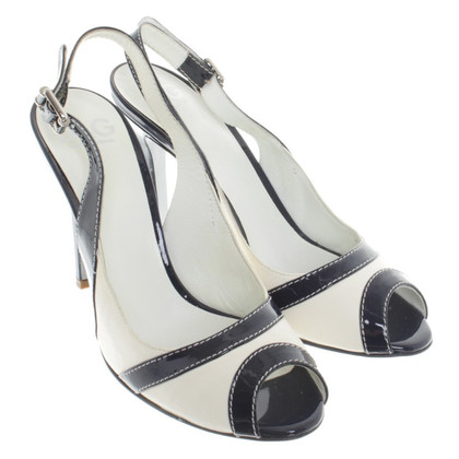 Dolce & Gabbana Peeptoes in Weiß/Blau