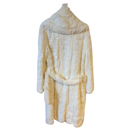 Balmain Manteau de fourrure de lapin