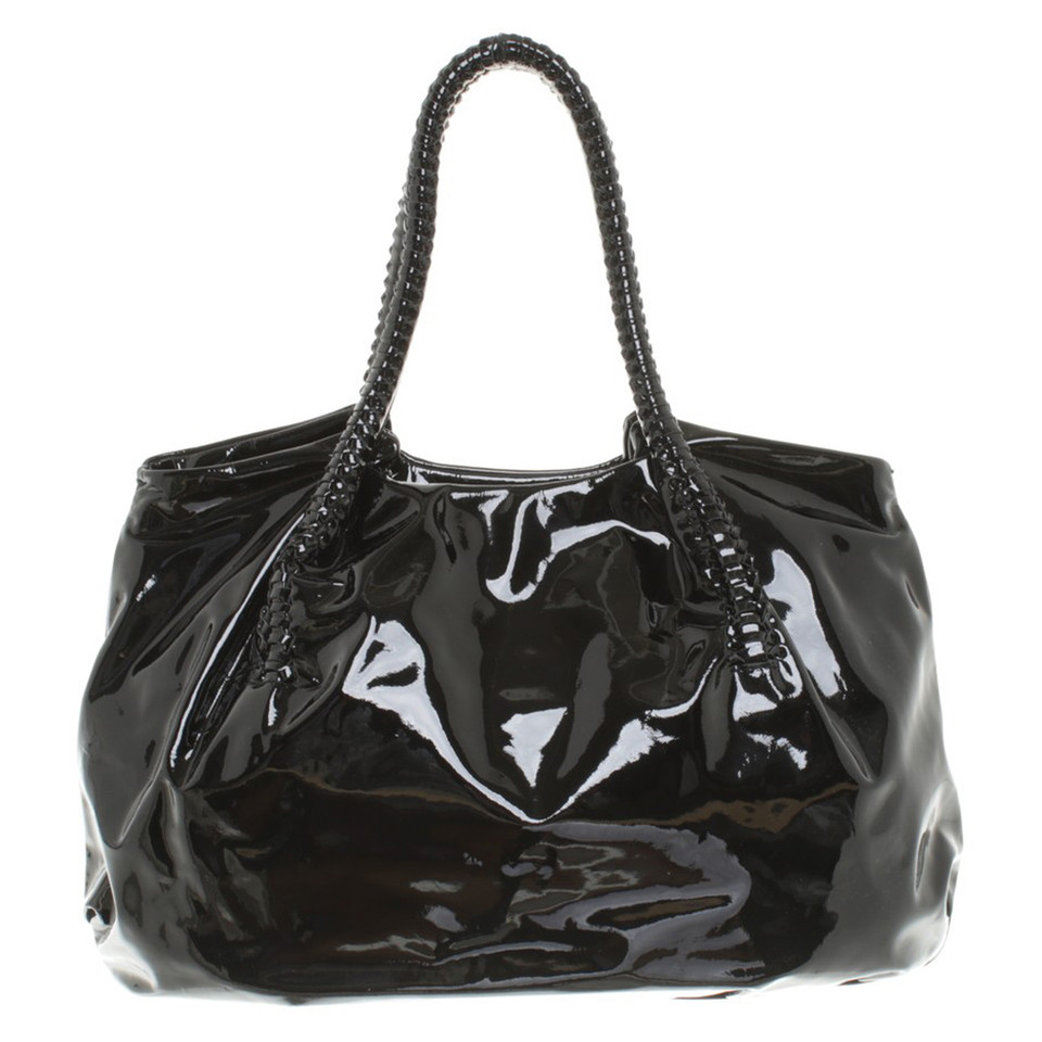 Salvatore Ferragamo Black patent leather handbag - Buy Second hand ...