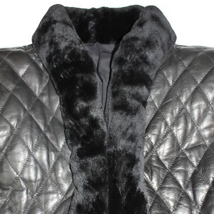 Valentino Bolero vintage leather and black nutria