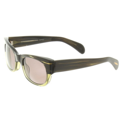 Oliver Peoples Sunglasses in black / green