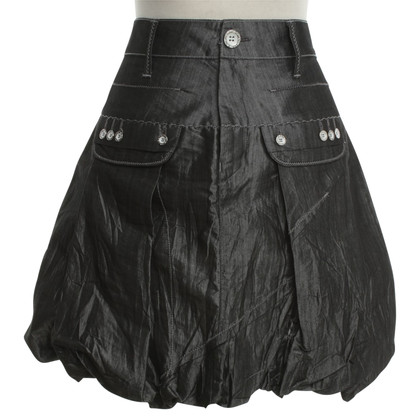 Marithé et Francois Girbaud Shining skirt in dark gray