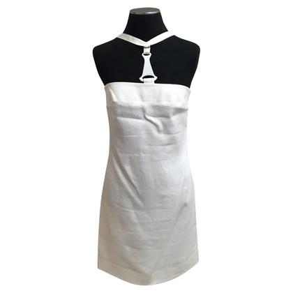 Versace White Coutoure Linen Dress
