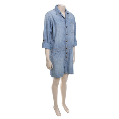 Current Elliott Wit Blauw playsuit, Gr.3