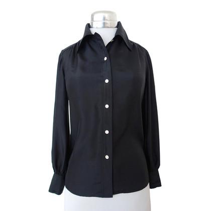 Pierre Balmain Zijden blouse in zwart