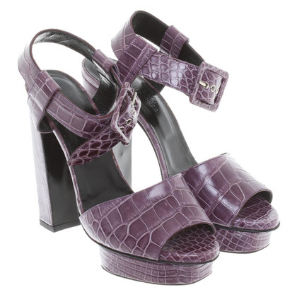 Hermès Platform sandalen paars