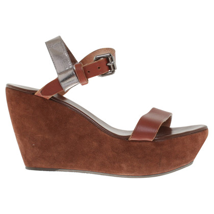 Acne Fox-colored wedges