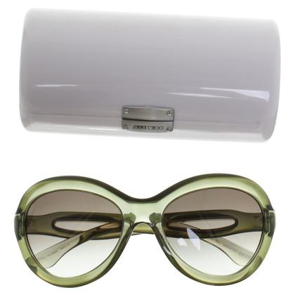 Jimmy Choo Olive retro zonnebrillen
