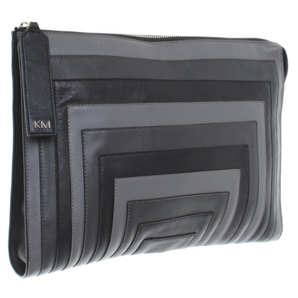 Karen Millen clutch in shades of grey