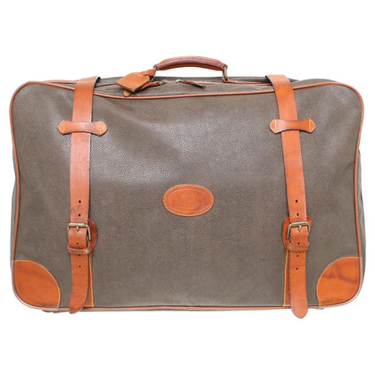 Mulberry Suitcase with leather details