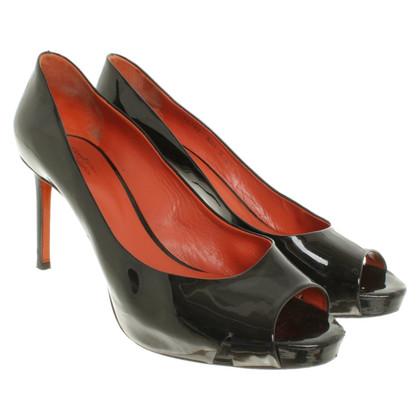 Santoni Peep-dita dei piedi in nero
