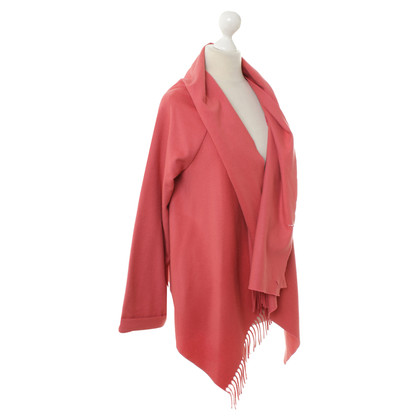 Patrizia Pepe Waterfall Cardigan in coral red