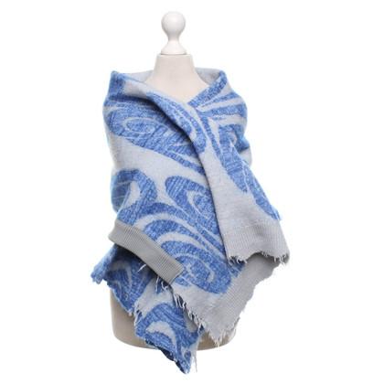 Acne Poncho in blu