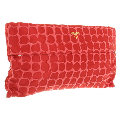 Prada clutch in red