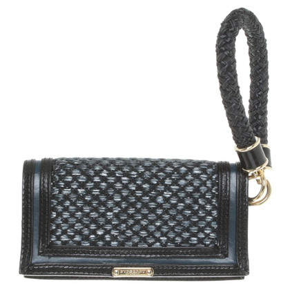 Burberry clutch in black / blue