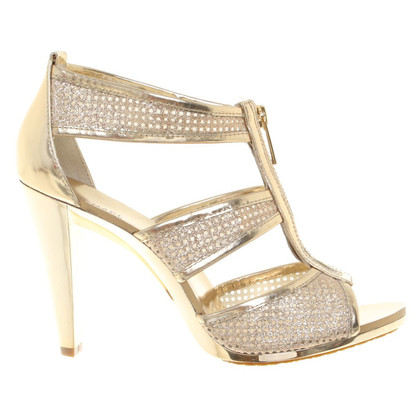 Michael Kors Gold colored pumps with plateau