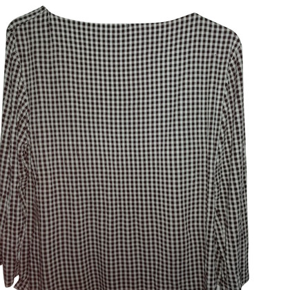 Max Mara Blouse in zwart / wit