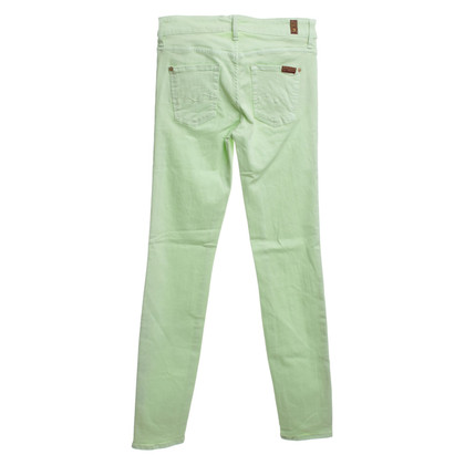 7 For All Mankind Jeans in Hellgrün
