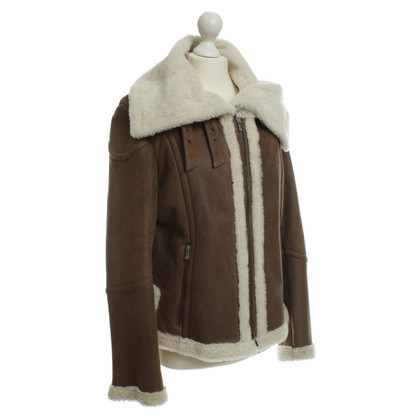 Marc Cain Suede jacket with lambskin
