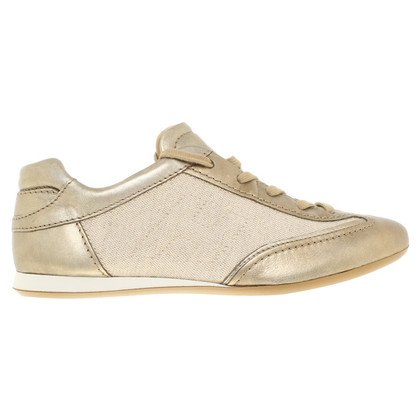 Hogan Sneaker in Gold/Beige
